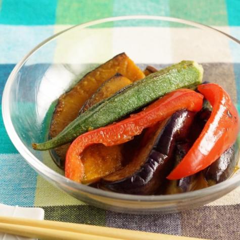 夏野菜の焼き浸し