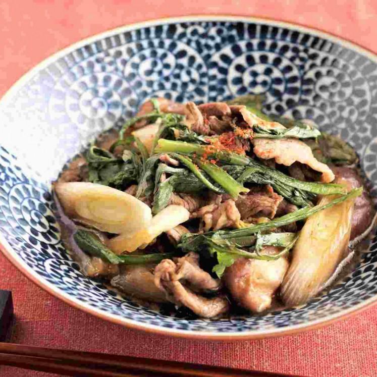 冬野菜たっぷりの牛すき煮