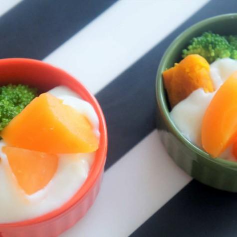 緑黄色野菜のホワイトソースかけ
