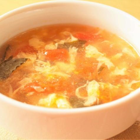 卵とトマトのさっぱりスープ