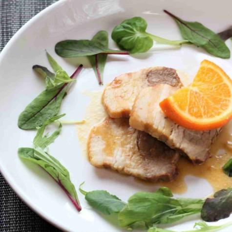 豚肉とオレンジの洋風角煮 ~はちみつ風味~