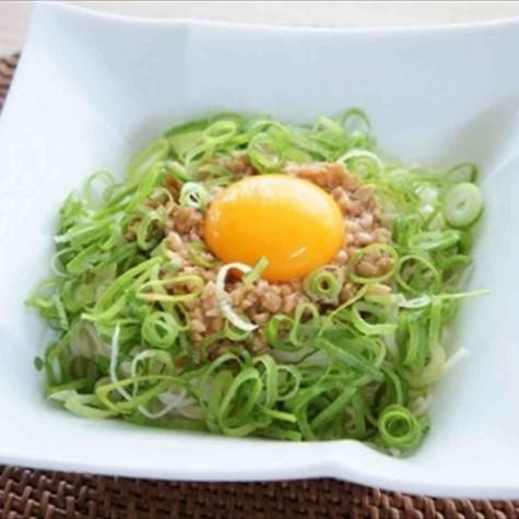 納豆の油そば風素麺