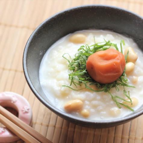豆乳と味噌の大豆のお粥