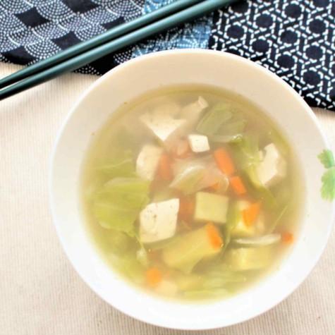 具だくさんの和風スープ