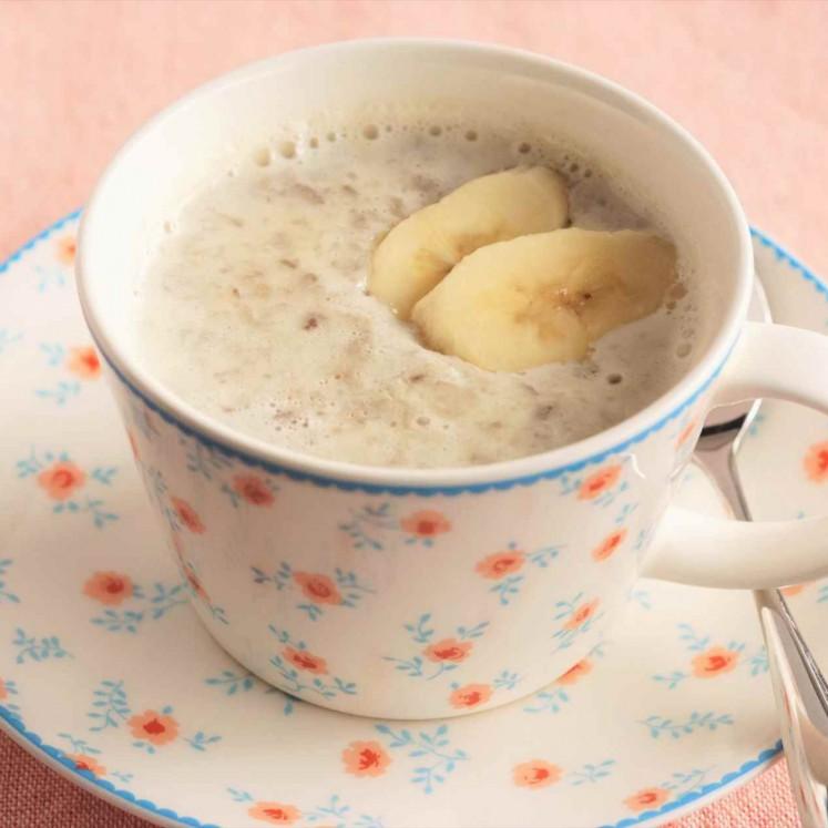 バナナと豆乳の簡単ぜんざい風