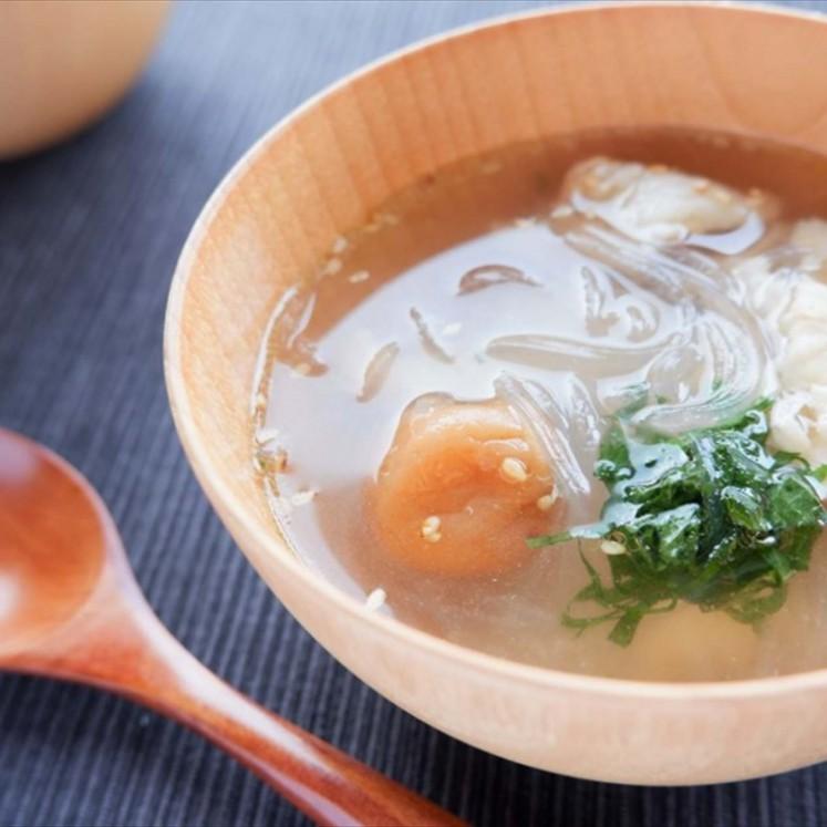 鶏肉と春雨の梅スープ