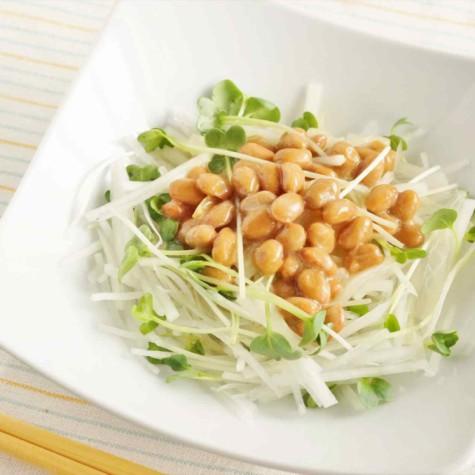 納豆と大根のサラダ