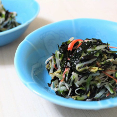 青海苔とひじきの酢の物