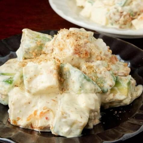 豆腐とアボカドの和風マヨサラダ
