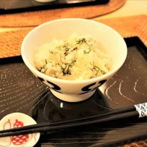 炊き込み酢飯のたらこ混ぜご飯