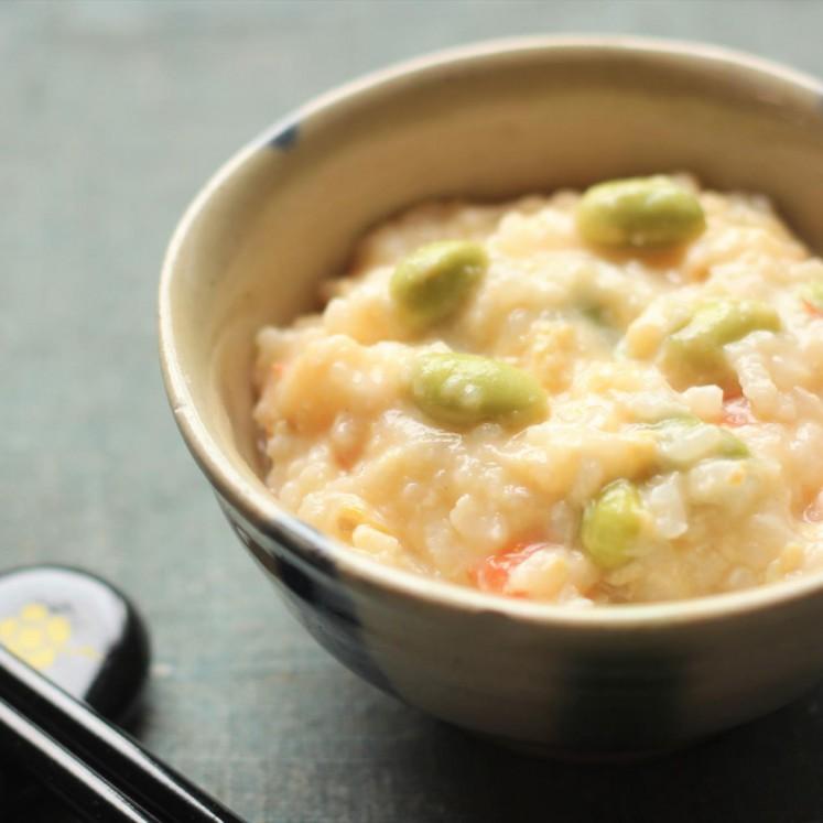 トマトと枝豆の洋風チーズ粥