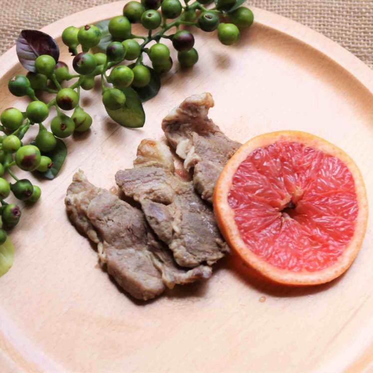 豚肉とピンクグレープフルーツのオーブン焼き