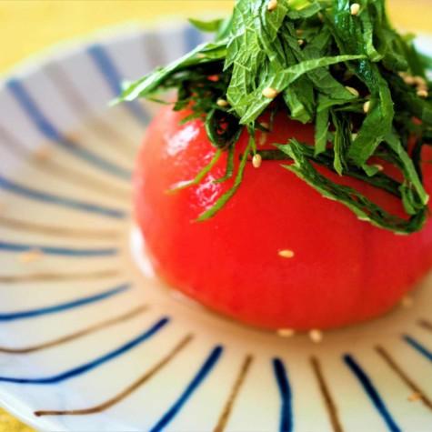 トマトの和風出汁マリネ