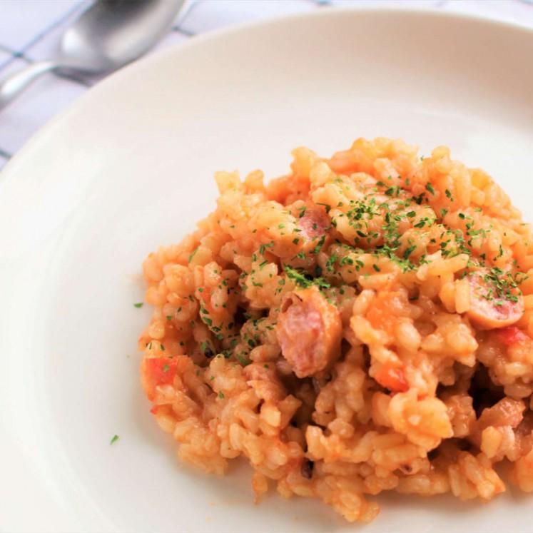 炊飯器でつくるトマトリゾット