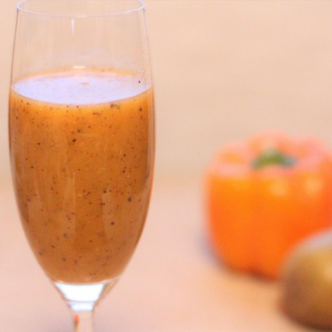 セロリとパプリカのキウイフルーツジュース