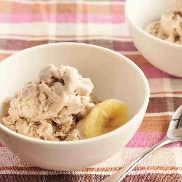 バナナと豆腐とはちみつのアイス