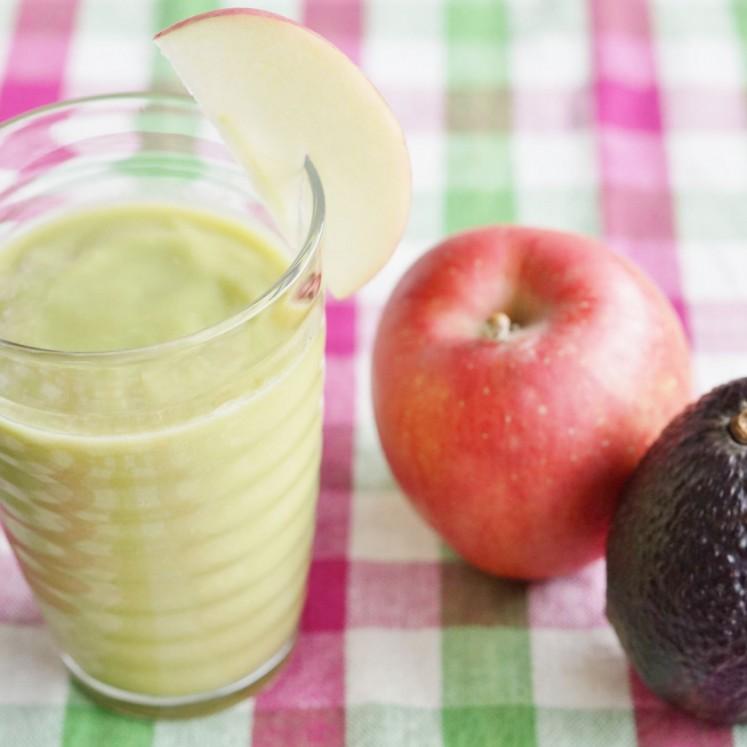アボカドとりんごのジュース