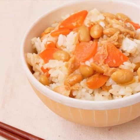 ツナと大豆の混ぜご飯