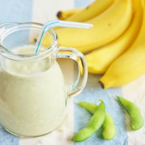 枝豆とバナナと牛乳のジュース