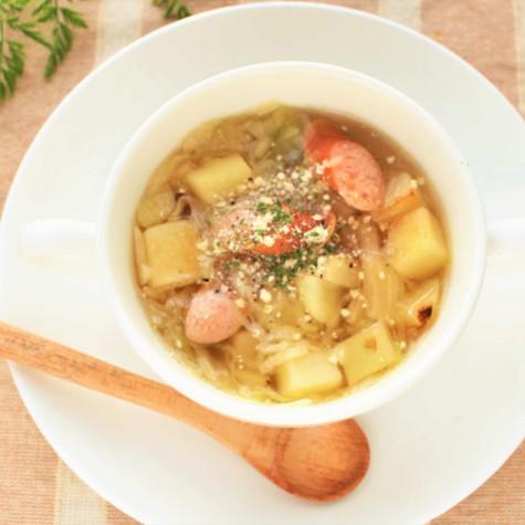 ジャーマンポテトのチーズスープ