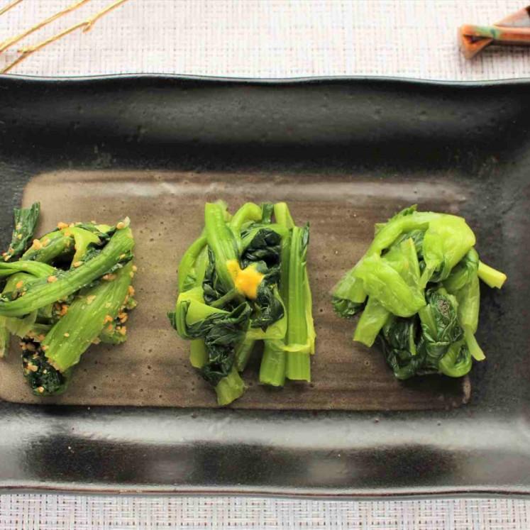 3種の小松菜和え