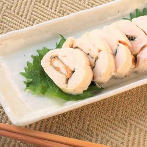 鶏ささみ肉の梅シソ巻き