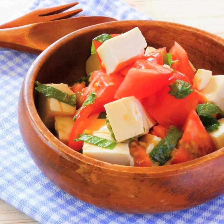トマトと豆腐の和風サラダ