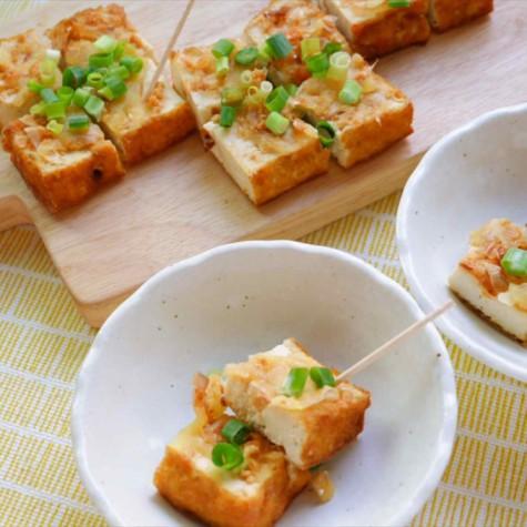 厚揚げの味噌チーズ焼き