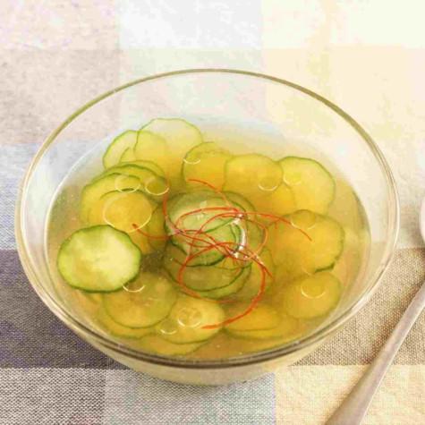 きゅうりの冷製中華スープ