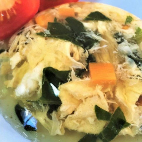 野菜と卵のゼリー寄せ