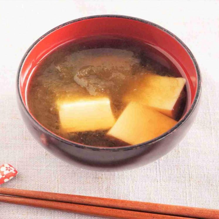 卵豆腐ととろろ昆布の冷やし椀