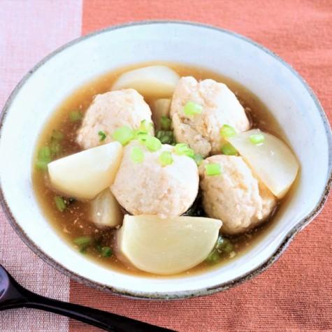 豆腐鶏団子とかぶのとろみ煮