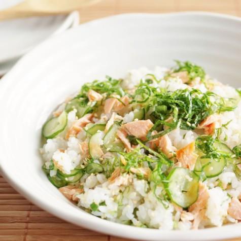 鮭ときゅうりのちらし寿司