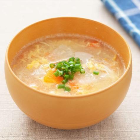 大根とにんじんの和風卵スープ