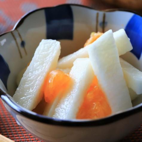 長芋とみかんの酢の物