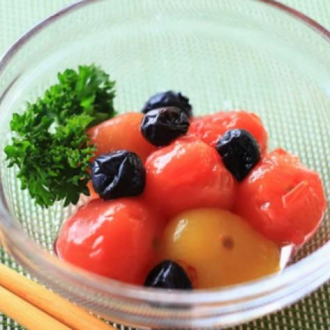 ミニトマトとブルーベリーのはちみつ和え