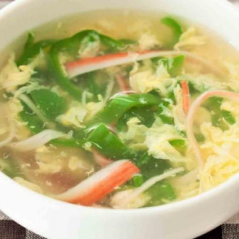 ピーマンの中華スープ