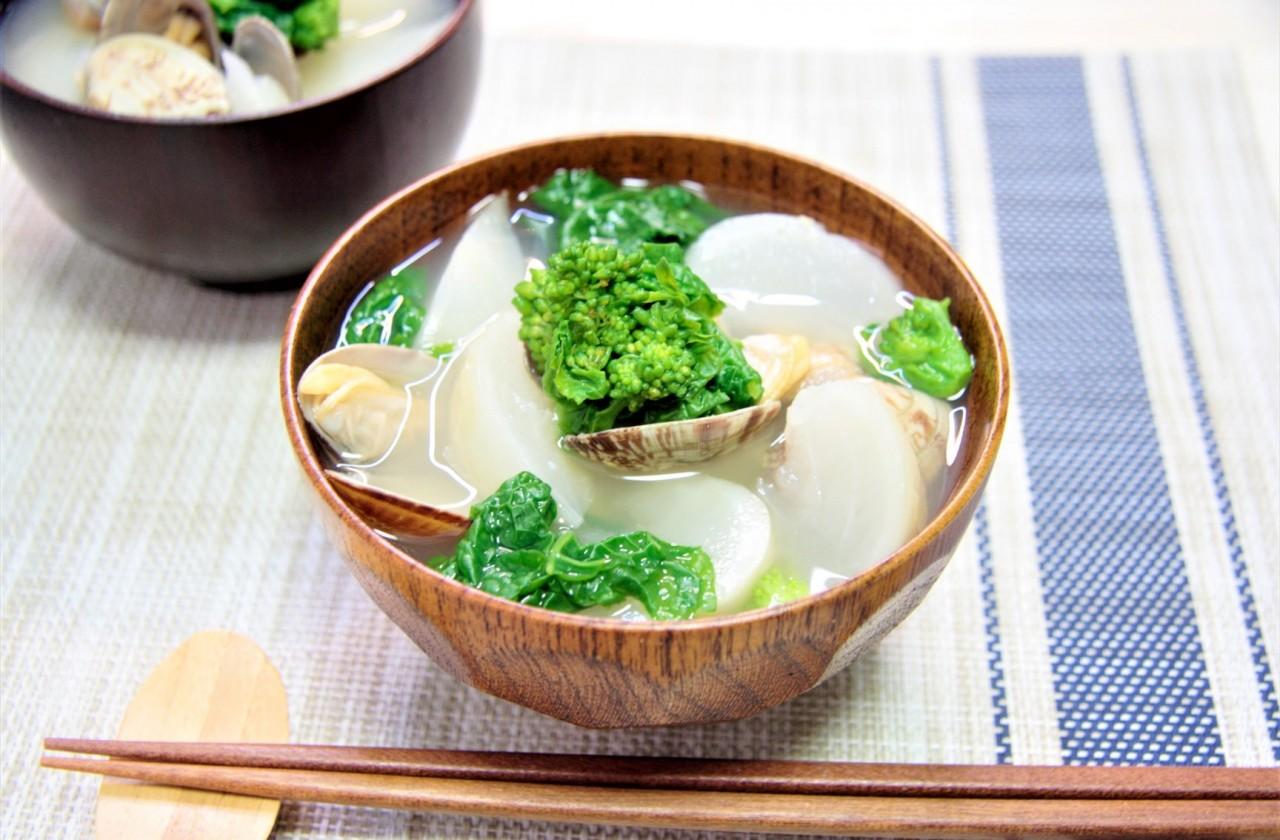 あさりと菜の花のお味噌汁の作り方 | 管理栄養士が解説