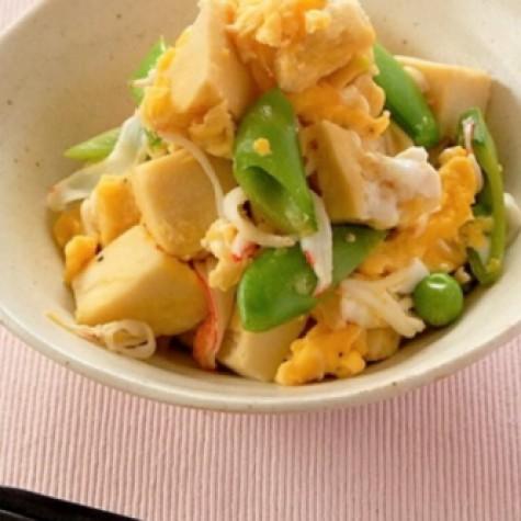 高野豆腐の卵炒め