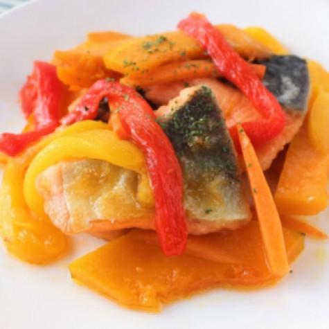 鮭と彩り野菜のおかずマリネ