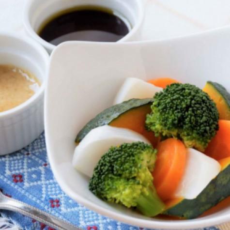 レンジで簡単温野菜サラダ