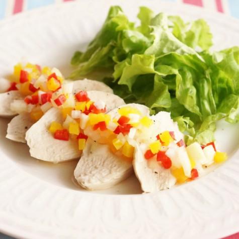 茹で鶏のラヴィゴットソース