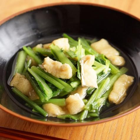 小松菜と油揚げの煮浸し